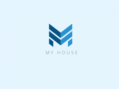 Building style Letter M Initial Logo