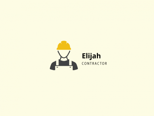 Worker Icon For Contractor Builder Logo