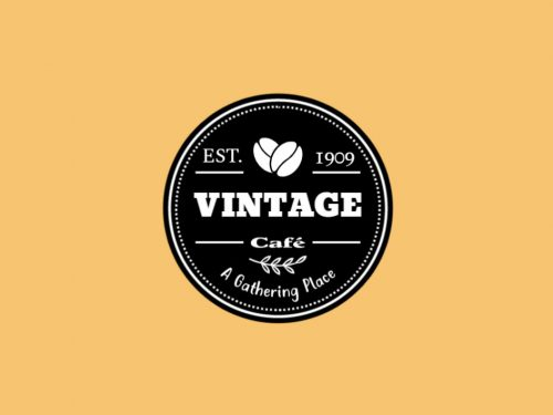 vintage logo for coffee shop